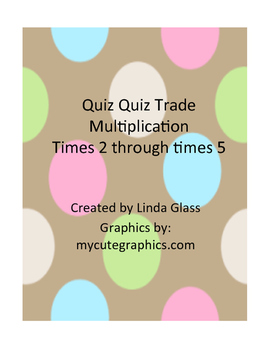 Quiz Quiz Trade Multiplication