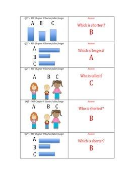 Quiz Quiz Trade Non-Standard Measurement 3 or 4 item comparison