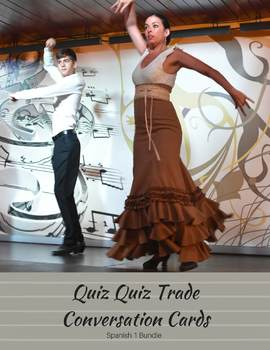 Quiz Quiz Trade Cards: Novice Spanish Speaking Activities Bundle