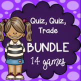 BUNDLE - 10 Quiz-Quiz-Trade Math Games - KINESTHETIC