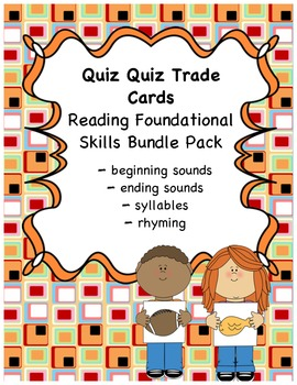 Quiz Quiz Trade  (Phonological Awareness) Bundle Pack{common core}