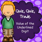 Place Value, Billions to hundredths, Quiz-Quiz-Trade Game