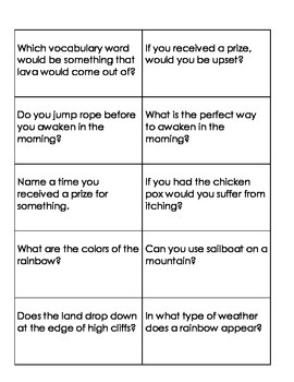 Quiz Quiz Trade Question Cards for The First Tortilla (Reading Street)