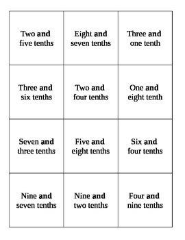 Quiz, Quiz, Trade  Reading Decimals (Word Form)