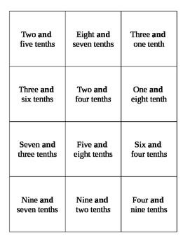 Quiz Quiz Trade Reading Decimals in Word Form