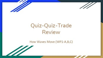 Quiz Quiz Trade Review Activity (How Waves Move)