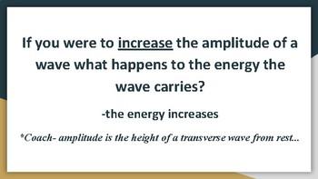 Quiz Quiz Trade Review Activity (Wave Properties)