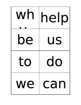 Quiz Quiz Trade Sight Words