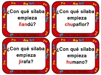 Quiz, Quiz, Trade: Spanish Syllables Ch, J, Y,Ñ and H (Words only)