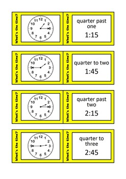 Quiz Quiz Trade Telling Time Bundle