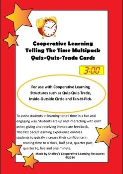 Quiz Quiz Trade Telling The Time Cards Multipack