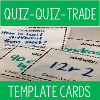 Quiz-Quiz-Trade Template Cards