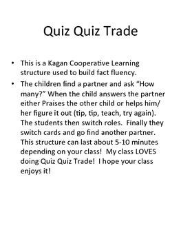 Quiz Quiz Trade Tens Frames 1-20