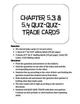 Quiz Quiz Trade Tranfsormations