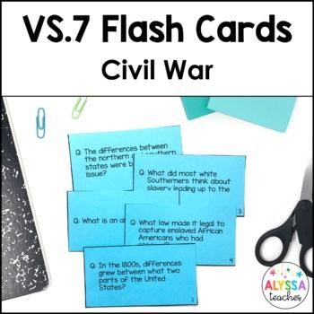 Virginia in the Civil War Flash Cards (VS.7)