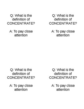 Quiz Quiz Trade Vocabulary Cards Template and Example