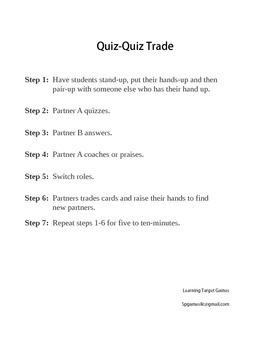 Quiz Quiz Trade Vocabulary Cards for Grade 5, EL Module 1, Unit 1