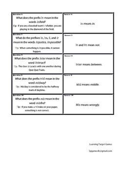 Quiz Quiz Trade Vocabulary Cards for Grade 6, EL Module 1, Unit 1, Lesson 6
