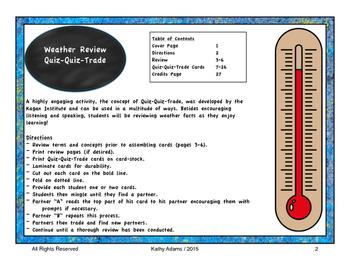 Quiz Quiz Trade Weather Review