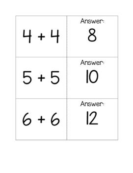 Quiz-Quiz-Trade: addition doubles facts