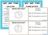 Quiz - Quiz - Trade for o'clock, half past, quarter to and quarter past