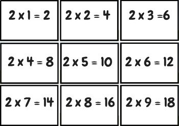 Quiz Quiz Trade Multiplication (x2, x4, x8)
