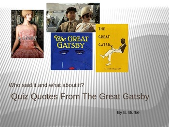 Quiz Quotes From The Great Gatsby