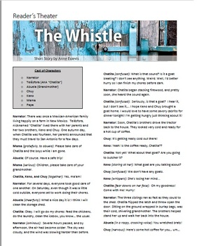 """Quiz & Readers Theater for """"The Whistle"""" by Anne Estevis - Collections"""