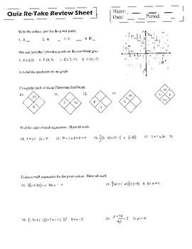 Quiz Review - Math