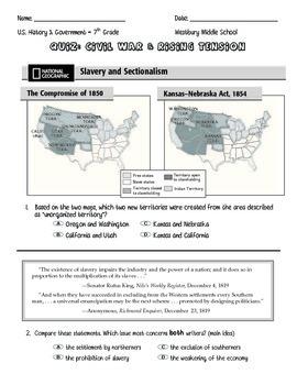 Quiz: Rising Tension of the Civil War