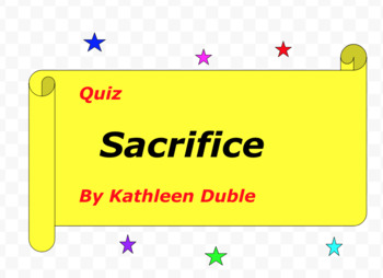 Quiz: Sacrifice by Kathleen Duble