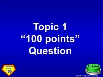quiz show game template in a powerpoint presentation by preston