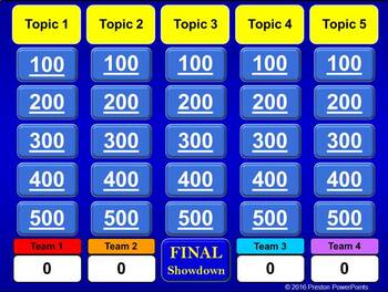 Quiz Show Game Template in a PowerPoint Presentation