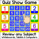 Quiz Show Review Game for Any Subject - Fun Back to School Smartboard Game