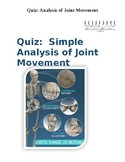 Quiz: Simple Analysis of Joint Movement (Classification of Joints)