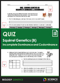 Quiz - Squirrel Genetics With Incomplete Dominance and Cod