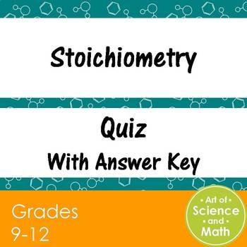 Quiz Stoichiometry