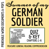 Summer of My German Soldier by Bette Greene - Quiz (pg. 1-79)