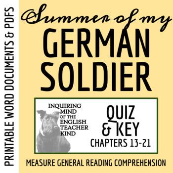 Summer of My German Soldier by Bette Greene - Quiz (pg. 156-end)