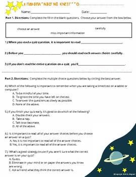 Quiz Super Star Activity (Worksheet)