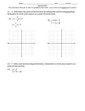 Quiz  - Systems with Substitution and Graphing