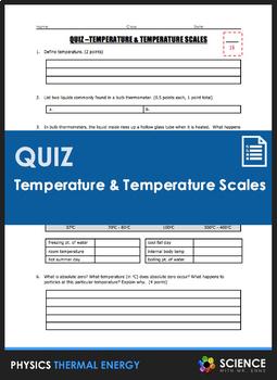Quiz - Temperature and Temperature Scales