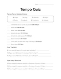Quiz: Tempo Terms and Calculations