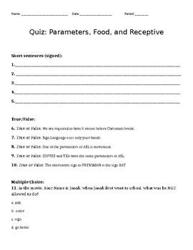 Quiz/ Test