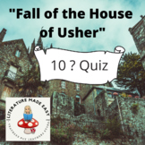 "Common Core Aligned Quiz/Test for ""The Fall of the House o"
