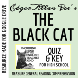 """The Black Cat"" by Edgar Allan Poe - Quiz & Key (Word Doc, Google Doc & PDF)"