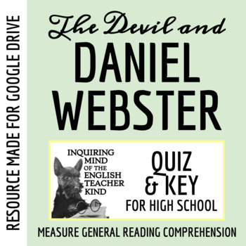 """The Devil & Daniel Webster"" by Stephen Vincent Benét - Quiz"