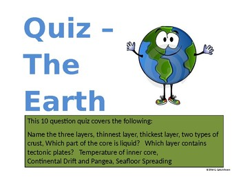 Quiz - The Earth