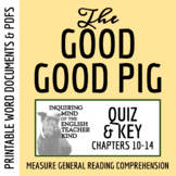 Quiz: The Good Good Pig by Sy Montgomery (Chapters 10-14)