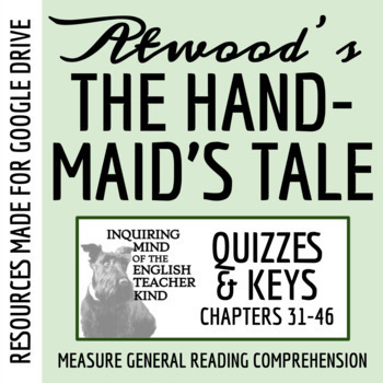 The Handmaid's Tale Quiz (Chap. 31-end)